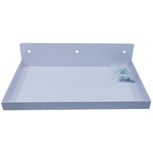 """View a Larger Image of DuraHook® 12""""W x 6""""D Steel Shelf for Duraboard® or 1/8"""" & 1/4"""" Pegboard, White"""