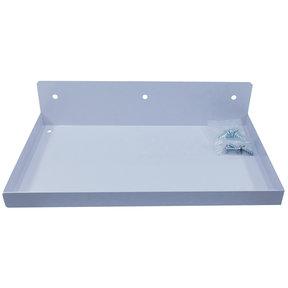 """DuraHook® 12""""W x 6""""D Steel Shelf for Duraboard® or 1/8"""" & 1/4"""" Pegboard, White"""