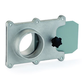 """Dust Collection Fitting, Blast Gate, Aluminum, 2-1/2"""" OD"""
