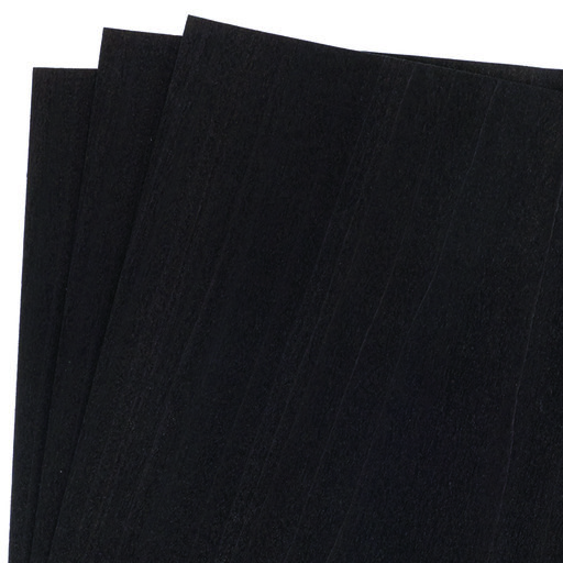 """View a Larger Image of Dyed Wood Veneer Pack - 12"""" x 12"""" - Black - 3 Piece"""