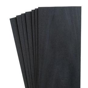 """4-1/2"""" to 7-1/2"""" Width 6 sq ft Pack Black Dyed Wood Veneer"""