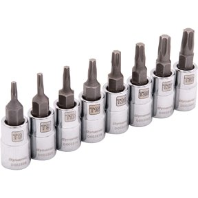 """Tools 1/4"""" Drive 8pc Standard Torx® Socket Set - T8 - T30"""
