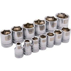 "Tools 3/8"" Drive 13pc 6-Point Standard SAE Socket Set, 1/4"" - 1"""
