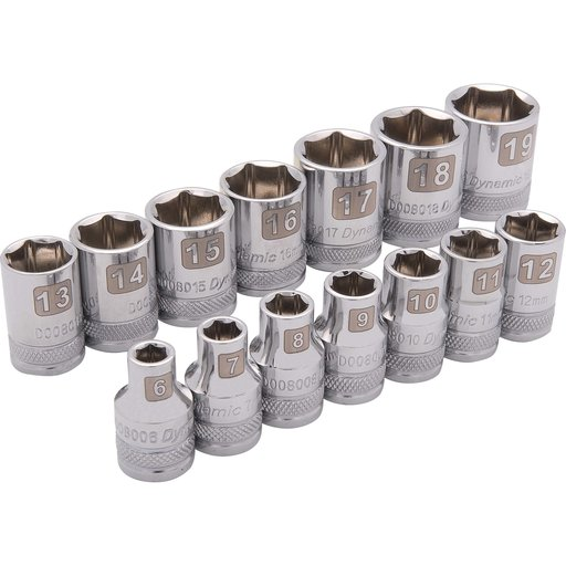 """View a Larger Image of Tools 3/8"""" Drive 14pc 6-Point Standard Metric Socket Set, 6mm - 19mm"""