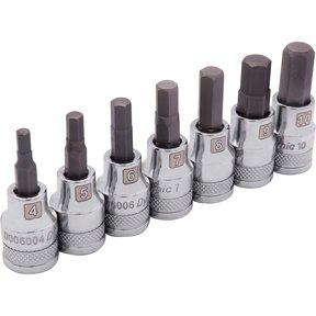 """Tools 3/8"""" Drive 7pc Metric Standard Hex Socket Set, 4mm - 10mm"""