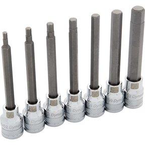 "Tools 3/8"" Drive 7pc SAE Long Hex Socket Set, 1/8"" - 3/8"""
