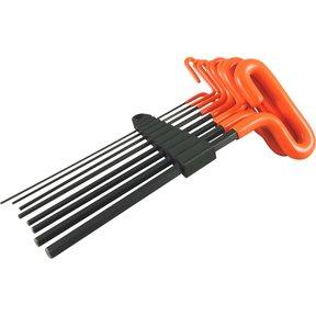 """Tools 8pc 9"""" Long Loop Handle Metric Hex Key Set, 2mm - 10mm"""