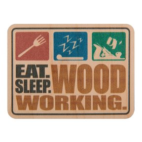 Eat Sleep Woodworking Maple Sticker