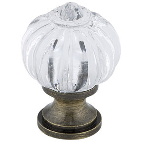"""Eclectic Knob, 1-1/8"""" D, Antique English, Clear"""