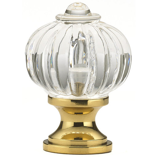 """View a Larger Image of Eclectic Knob, 1-1/8"""" D, Clear"""