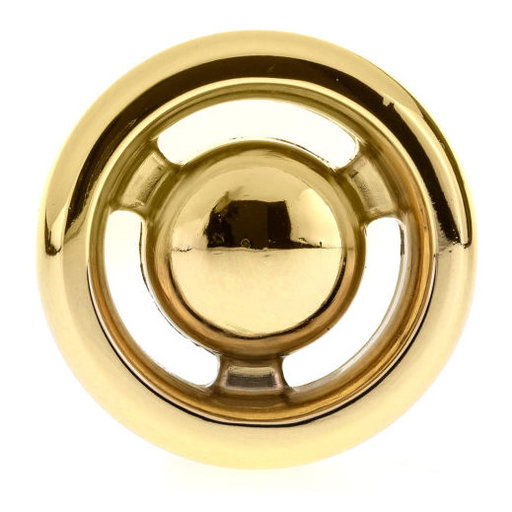 """View a Larger Image of Eclectic Knob, 1-13/32"""" D, Brass"""