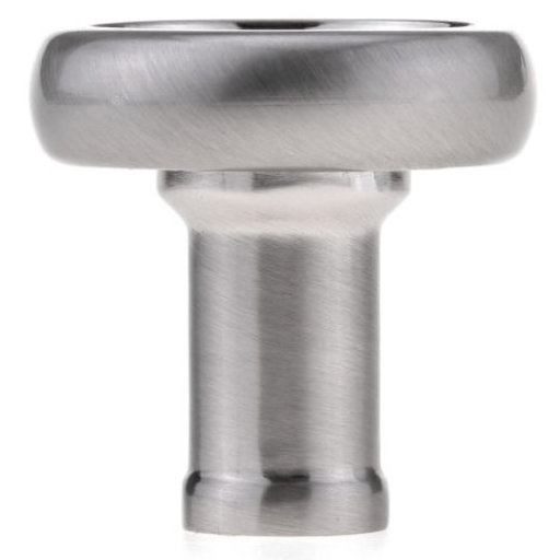 """View a Larger Image of Eclectic Knob, 1-13/32"""" D, Brushed Nickel"""
