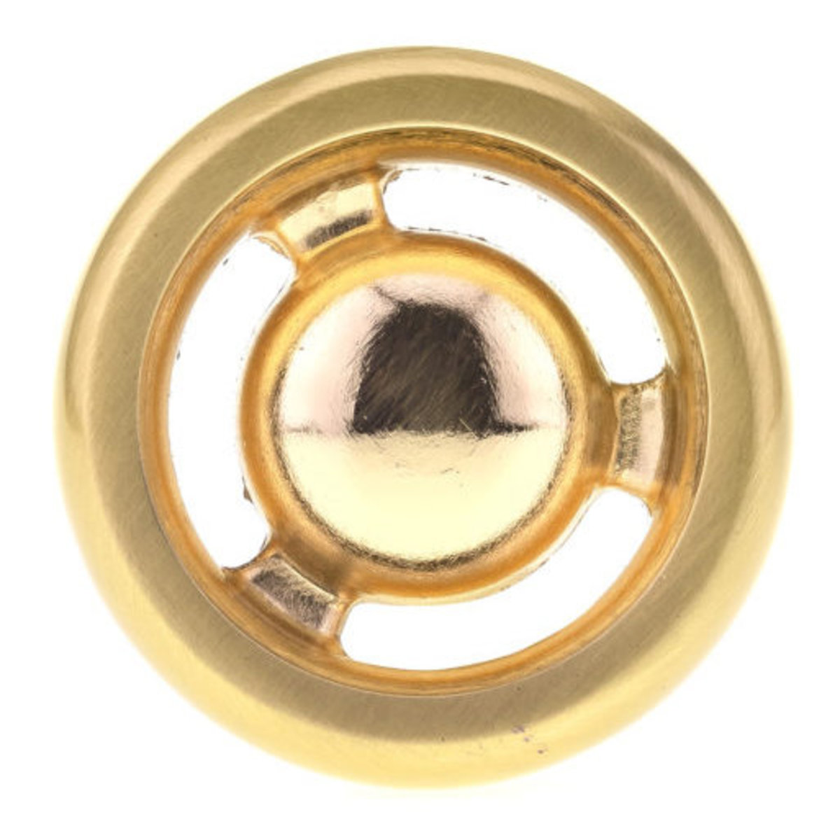 """View a Larger Image of Eclectic Knob, 1-13/32"""" D, Satin Brass"""