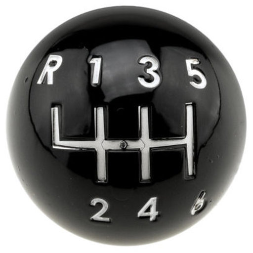 """View a Larger Image of Eclectic Knob, 1-15/32"""" D, Black"""