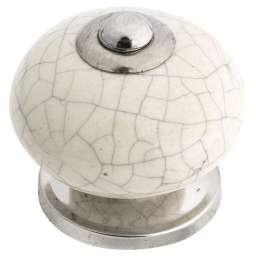 """View a Larger Image of Eclectic Knob, 1-17/32"""" D, Crackle Almond"""