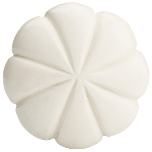 """View a Larger Image of Eclectic Knob, 1-17/32"""" D, Cream"""