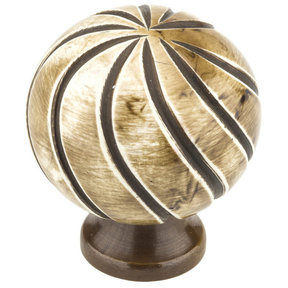 """Eclectic Knob, 1-3/8"""" D, Almond, Chocolate"""