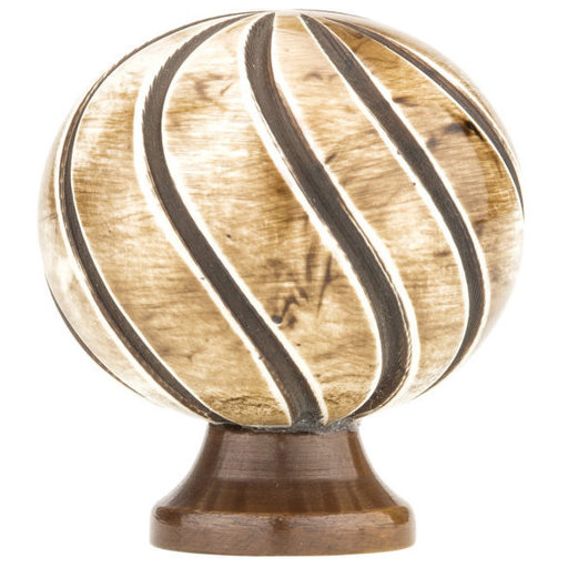 """View a Larger Image of Eclectic Knob, 1-3/8"""" D, Almond, Chocolate"""