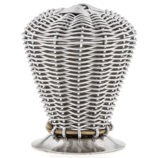 """View a Larger Image of Eclectic Knob, 1-3/8"""" D, Brushed Nickel"""