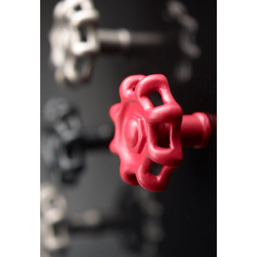 """View a Larger Image of Eclectic Knob, 1-3/8"""" D, Red"""
