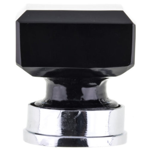 """View a Larger Image of Eclectic Knob, 1-5/16"""" x 1-5/16"""", Black"""