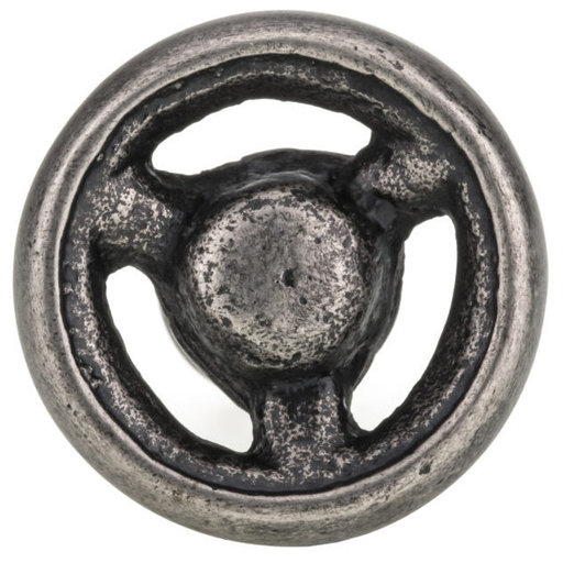 """View a Larger Image of Eclectic Knob, 1-9/16"""" D, Pewter"""