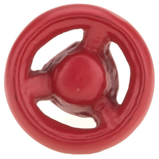 """View a Larger Image of Eclectic Knob, 1-9/16"""" D, Red"""