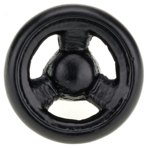 """View a Larger Image of Eclectic Knob, 2-17/32"""" D, Black"""