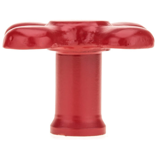 """View a Larger Image of Eclectic Knob, 3-1/16"""" D, Red"""