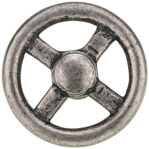 """View a Larger Image of Eclectic Knob, 3-5/32"""" D, Pewter"""
