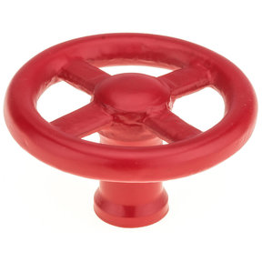 """Eclectic Knob, 3-5/32"""" D, Red"""