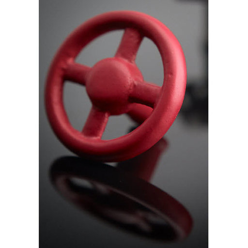 """View a Larger Image of Eclectic Knob, 3-5/32"""" D, Red"""