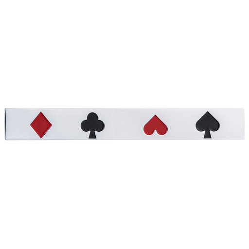 """View a Larger Image of Eclectic Pull, 3-3/4"""" Center-to-Center, Chrome, Card Game"""