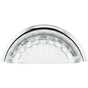"""Eclectic Pull, 3"""" Center-to-Center, Chrome, Clear"""