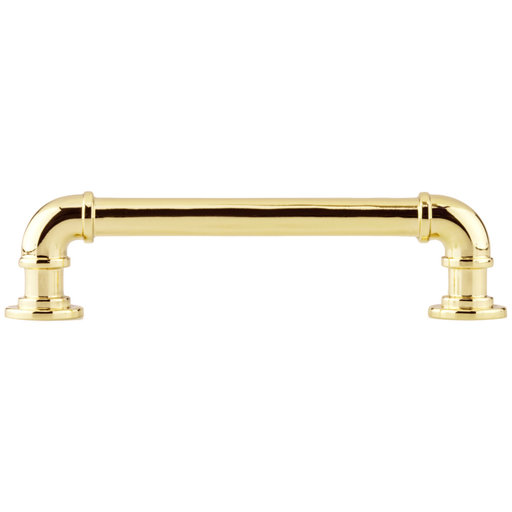 """View a Larger Image of Eclectic Pull, 5-1/16"""" Center-to-Center, Brass"""