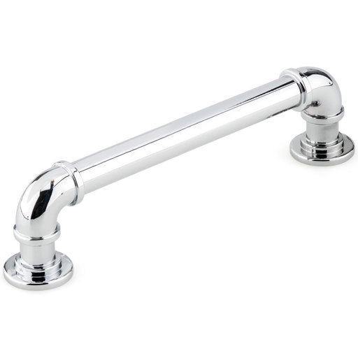 """View a Larger Image of Eclectic Pull, 5-1/16"""" Center-to-Center, Chrome"""