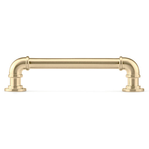 """View a Larger Image of Eclectic Pull, 5-1/16"""" Center-to-Center, Satin Brass"""