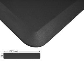 "Eco-Pro Continuous Comfort Mat, Black, 20"" x 132"""