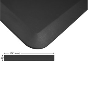 "Eco-Pro Continuous Comfort Mat, Black, 20"" x 174"""