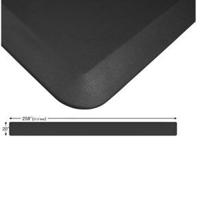"Eco-Pro Continuous Comfort Mat, Black, 20"" x 258"""