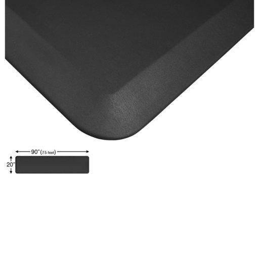 "View a Larger Image of Eco-Pro Continuous Comfort Mat, Black, 20"" x 90"""