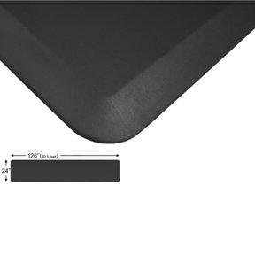 "Eco-Pro Continuous Comfort Mat, Black, 24"" x 126"""