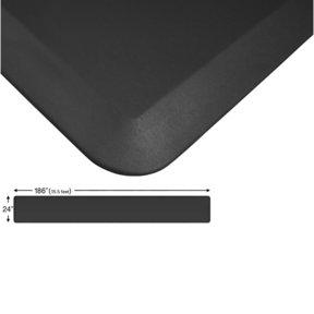 "Eco-Pro Continuous Comfort Mat, Black, 24"" x 186"""