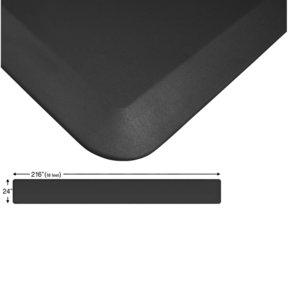 "Eco-Pro Continuous Comfort Mat, Black, 24"" x 216"""