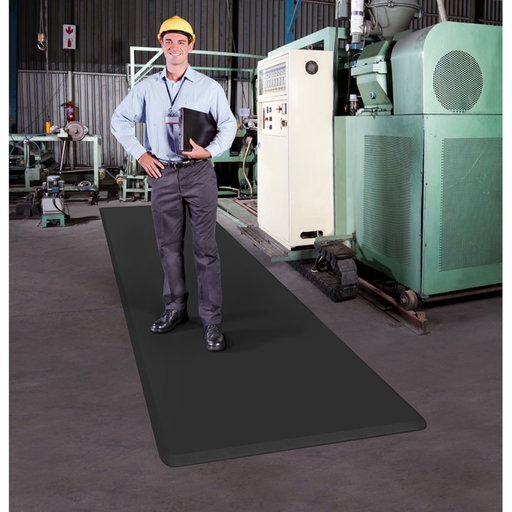 "View a Larger Image of Eco-Pro Continuous Comfort Mat, Black, 24"" x 216"""
