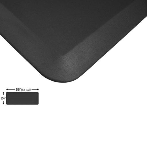 "View a Larger Image of Eco-Pro Continuous Comfort Mat, Black, 24"" x 66"""