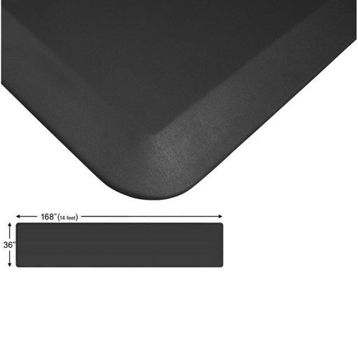 "View a Larger Image of Eco-Pro Continuous Comfort Mat, Black, 36"" x 168"""