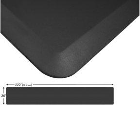 "Eco-Pro Continuous Comfort Mat, Black, 36"" x 222"""
