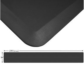 "Eco-Pro Continuous Comfort Mat, Black, 36"" x 276"""