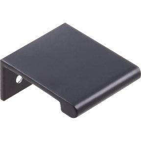 Edgefield Tab Pull, 16 mm C/C, Matt Black/Black